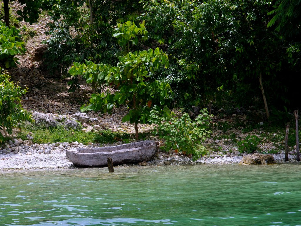 Einbaum am Ufer des Lago Peten - Guatemala