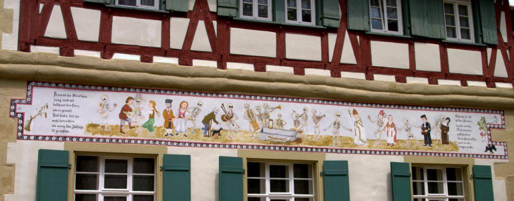 Wandmalerei an einem Fachwerkhaus - Eppingen im Kraichgau