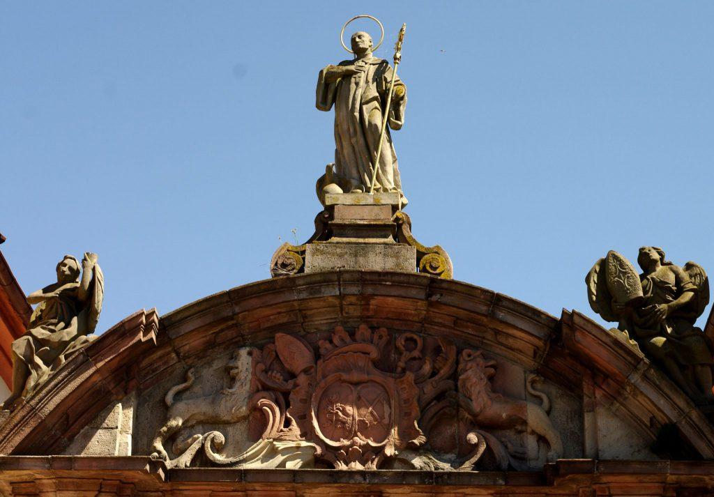 Klosterportal - um 1770 -  Münster in Rheinmünster-Schwarzach