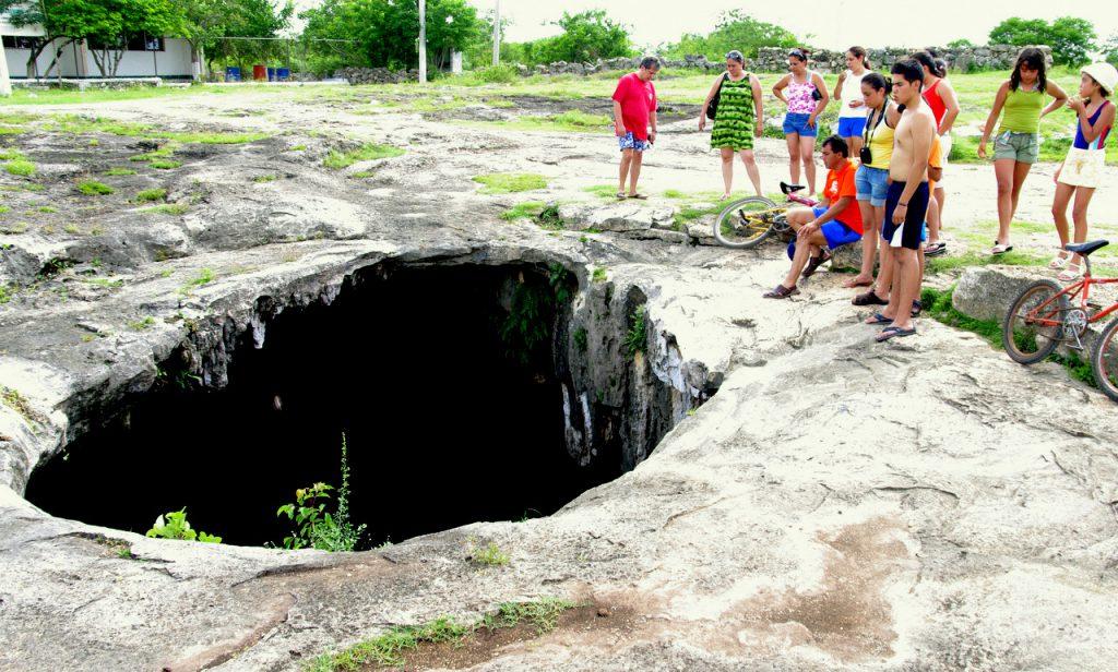 Deckeneinbruch der Cenote