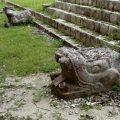 Snake heads in Chichen Itza
