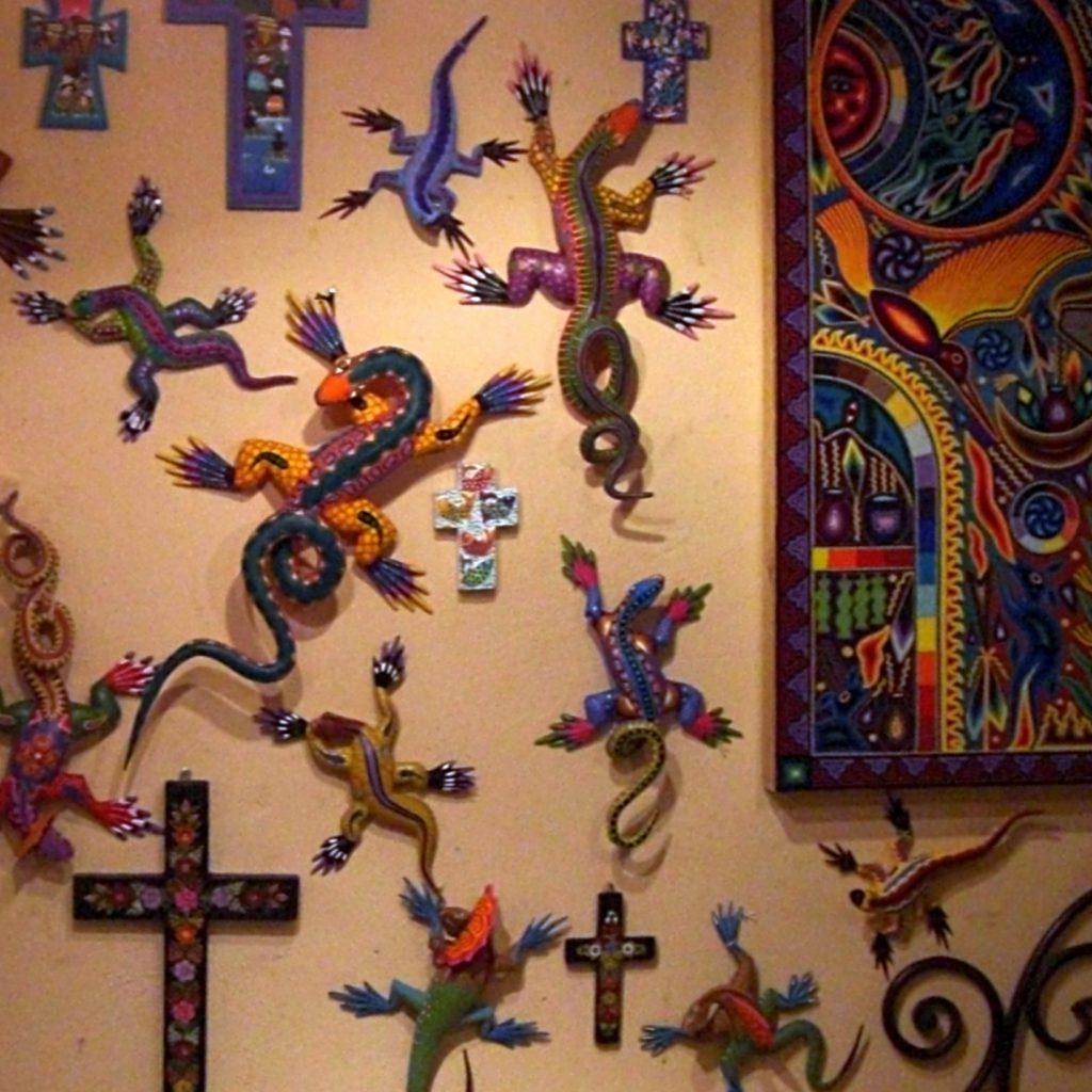 Art in a shop at the Riviera Maya