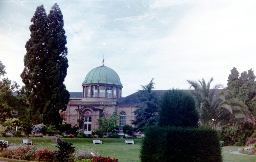 Blick auf die staatlich Kunsthalle Kalrsruhe