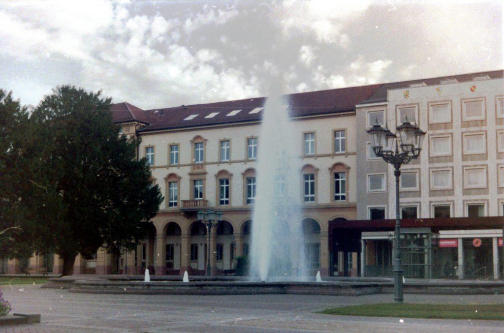 Fontäne am Friedrichsplatz in Karlsruhe
